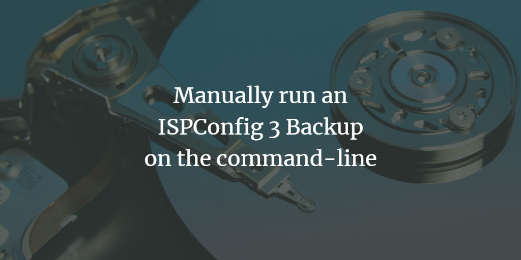 ISPConfig Backup