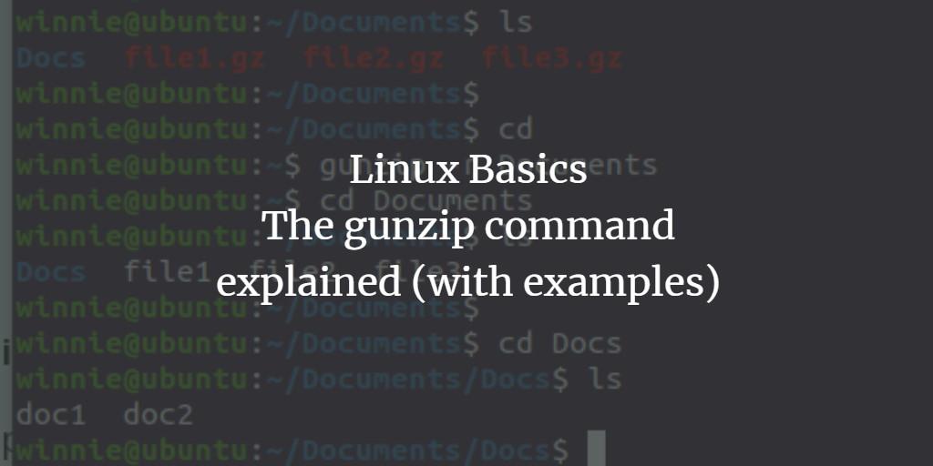 Linux Gunzip Examples