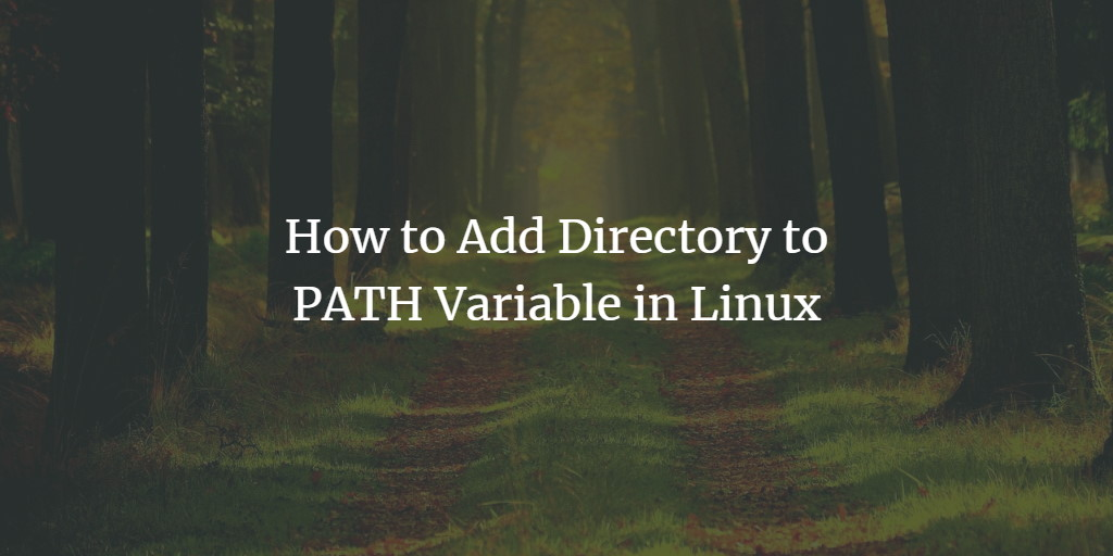 Linux Path variable