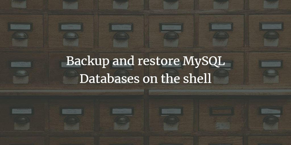 MySQL Database Backup