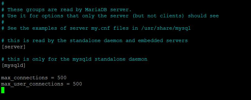 MySQL too many connections