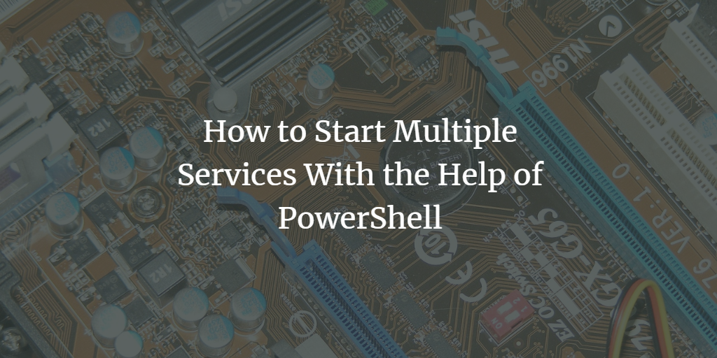Run multiple PowerShell Commands at once