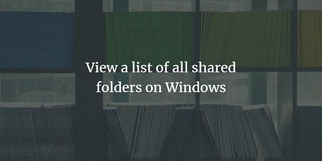 Shared Folders List