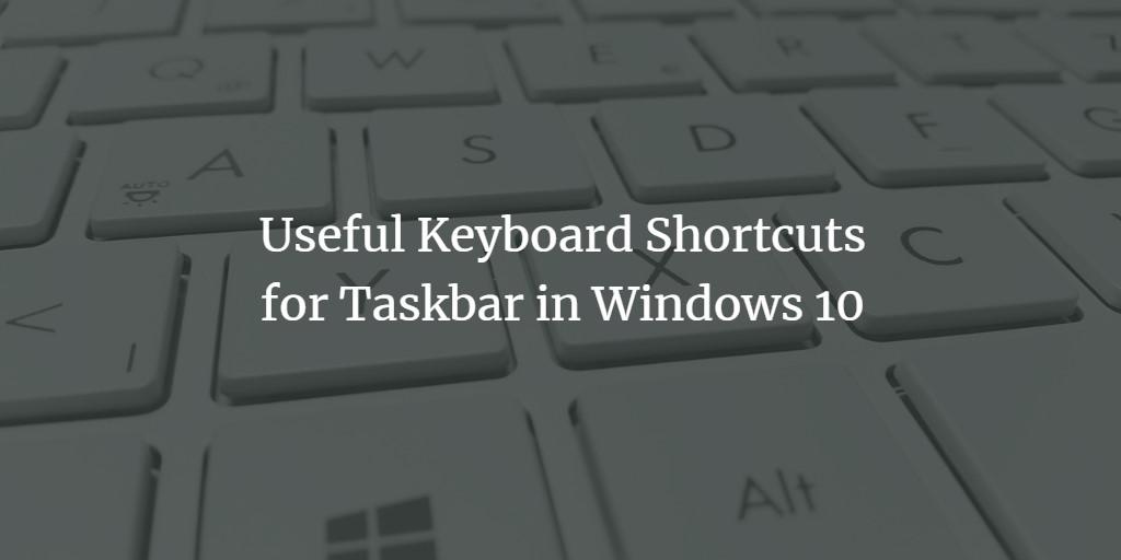 Windows Taskbar Shortcut