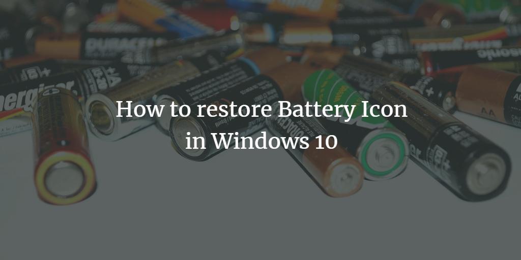 Windows Battery Icon