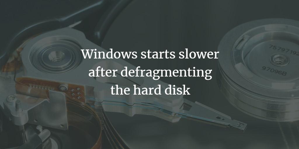 Windows Disk Defrag