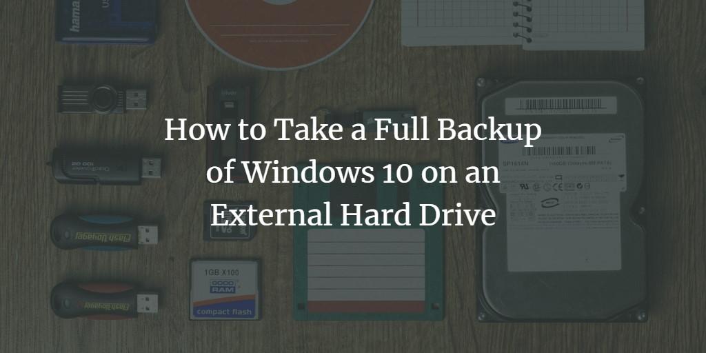 Windows 10 external backup