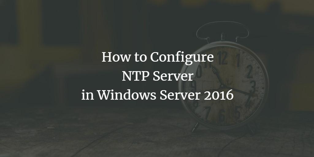 Windows NTP Server