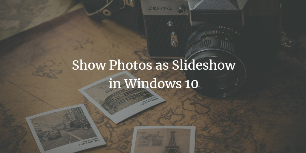 Free Windows Photo Slideshow Software