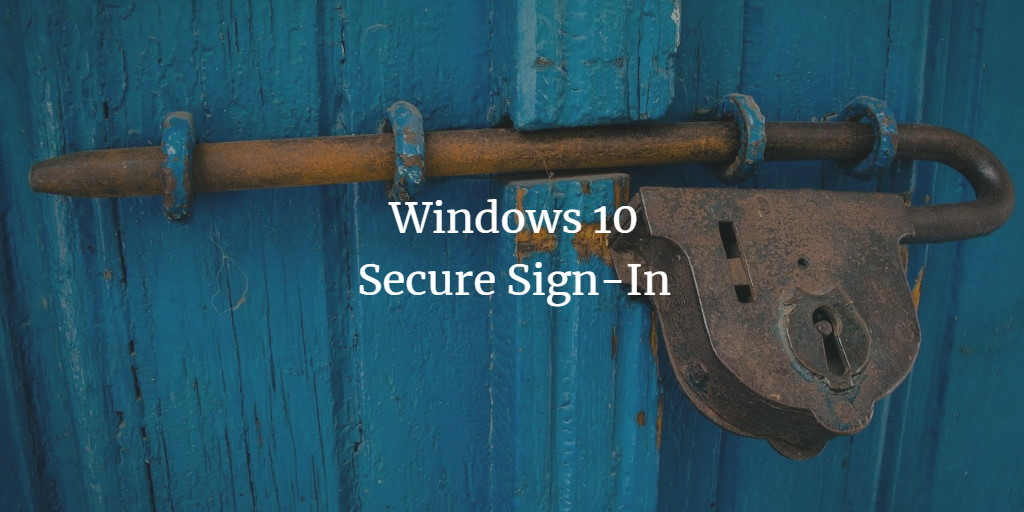 Windows secure login