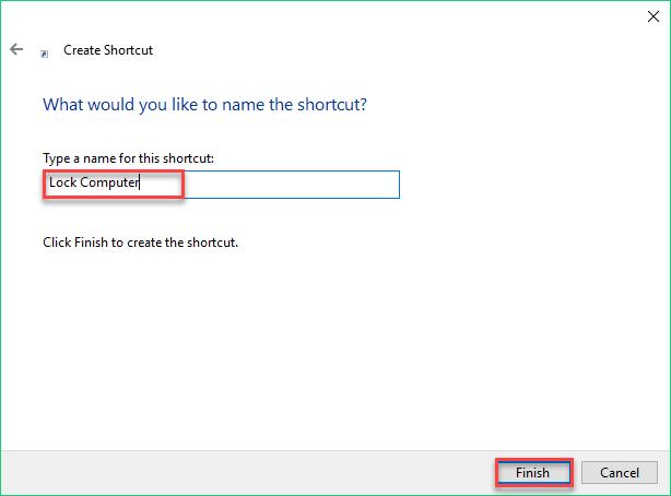 Lock computer shortcut