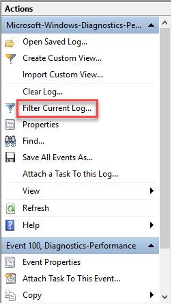 Filter current log