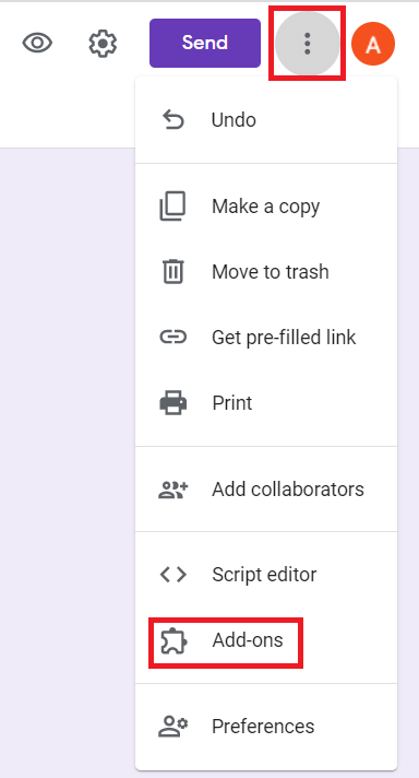 Google Forms addons