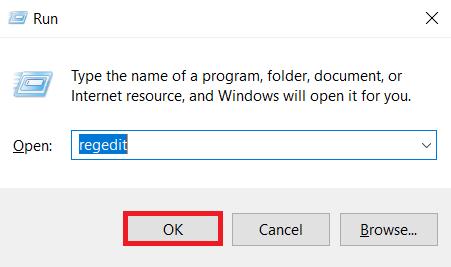 Start the Registry Editor