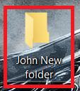 New Folder based on template name