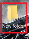 New folder without template