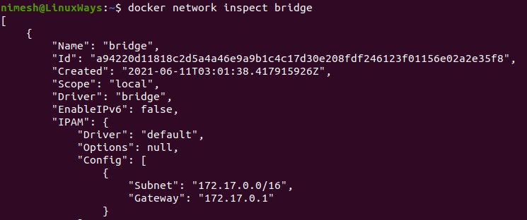 Get network details