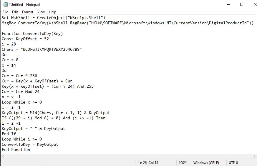PowerShell script
