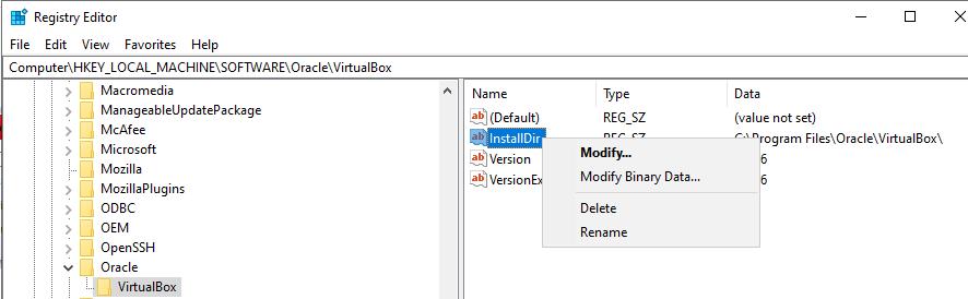 Modify InstallDir