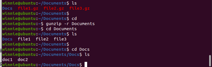 Decompress files recursively