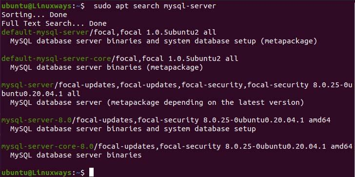 Query packages using apt